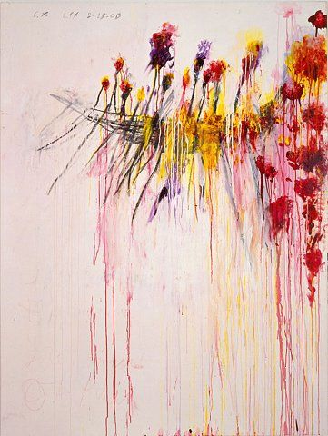 CY TWOMBLY flowers - Google-Suche  Even though these seem to be linked to his images of death ( the boat) there is somehow something very hope-filled in this image