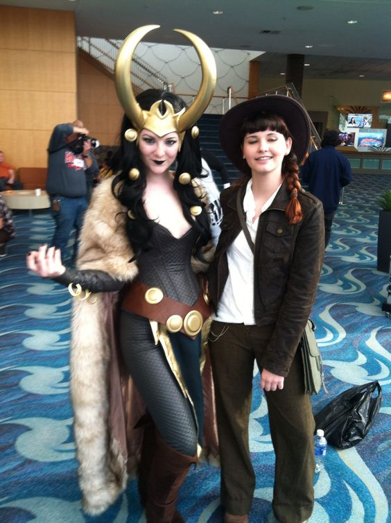Lady Loki and lady Indy