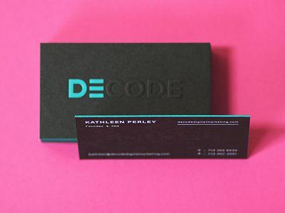 DECODE Executive Cards