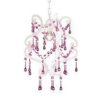 Pink and White Crystal Chandelier