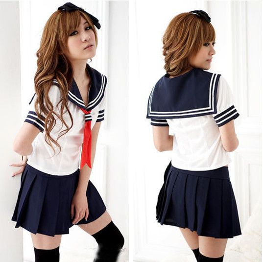 Sexy Japan adult School Girl cosplay halloween costume women fancy uniform dress #crystalshop13 #CompleteCostume