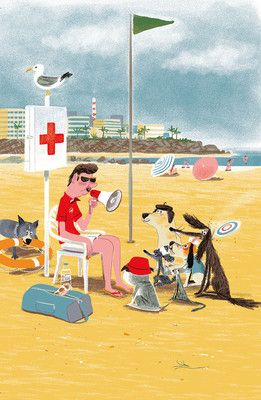Livres illustrators and french on pinterest for Plage stickers uk