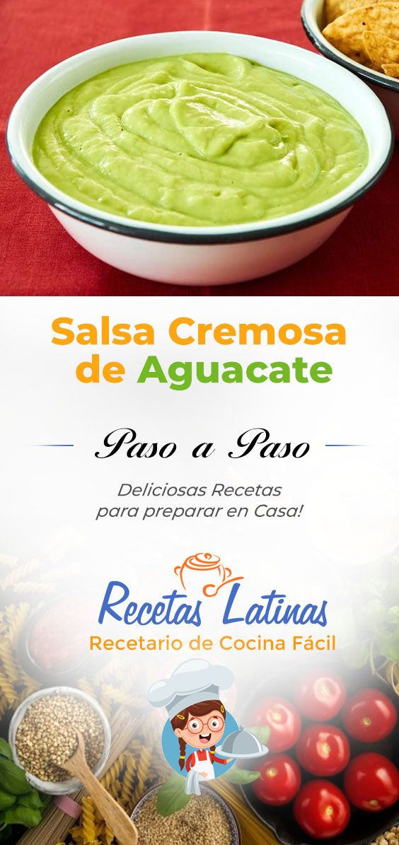 Salsa Cremosa De Aguacate Receta Salsa Aguacate Salsa De Aguacate Para Tacos Aguacate