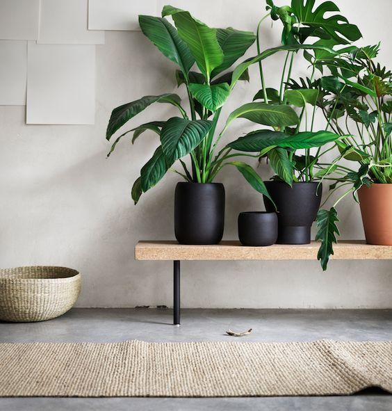 Mesa-banco de sala-jardim.  #decoração #ikeaportugal