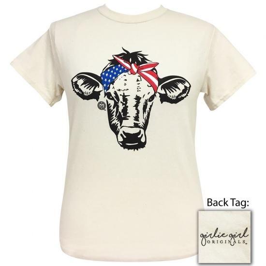 Girlie Girl Originals Preppy My Heifers Cows Bandana T-Shirt