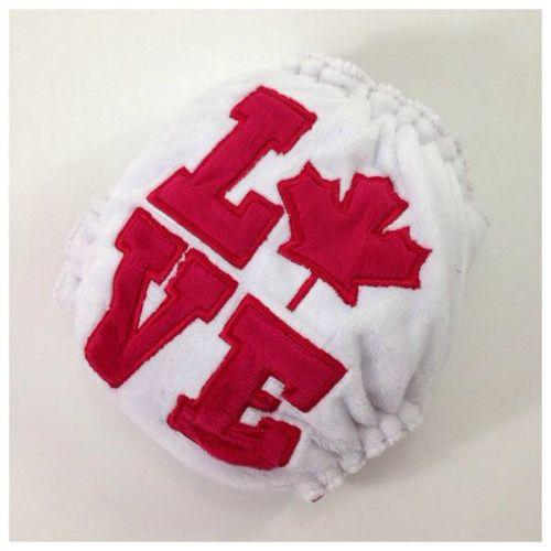 Canadian Love #madeincanada #wahm #mapleleaf #hybrid #clothdiapers  #maplebean #fitted #minky