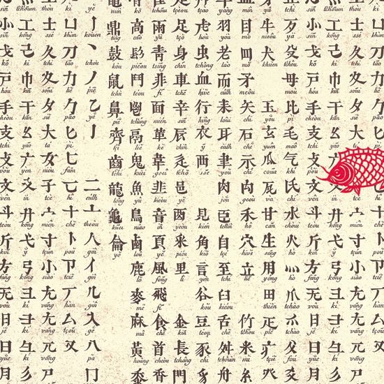 Chinese Alphabet Italian Wrapping Paper | Crafting World ~ All ...