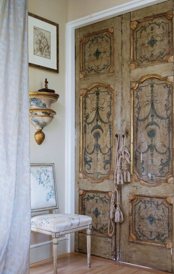 European style not too shabby and doors on pinterest for Antique looking interior doors