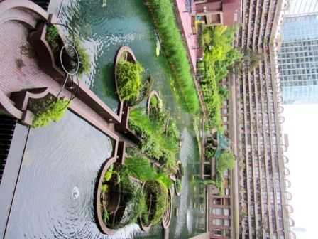 Sunken gardens at the Barbican London - amazing...
