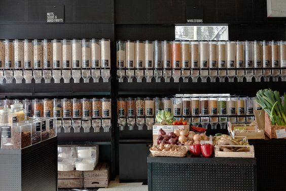 Unpackaged is a London café, bar and grocery, selling the majority of its products without packaging. #GroceryStore #London #Unpackaged