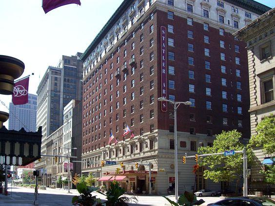 Hotel Statler in Cleveland, Ohio.