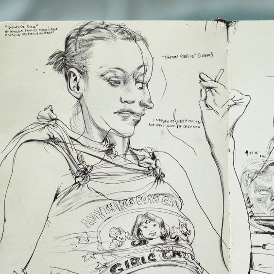 Maria, 2008. #sketchbook #moleskine