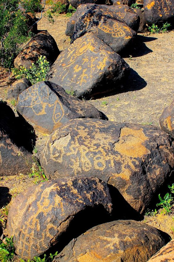 Painted Rock Petroglyphs, AZ.