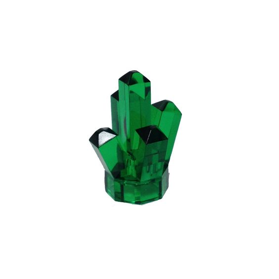 """Lego Parts: Rock 1 x 1 Crystal """"5 Point"""" (Transparent Green)"""