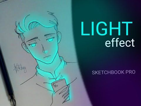 Draw A Light Effect Using Autodesk Sketchbook Pro Youtube