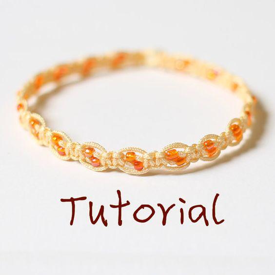 eBook (Ray of the Sun)-A tutorial to Chinese knot fiber beaded macrame bracelet friendship bracelet pattern-FREE SHIPPING