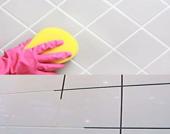 Limpar o excesso de argamassa dos frisos antes de rejuntar o piso ou revestimento.: