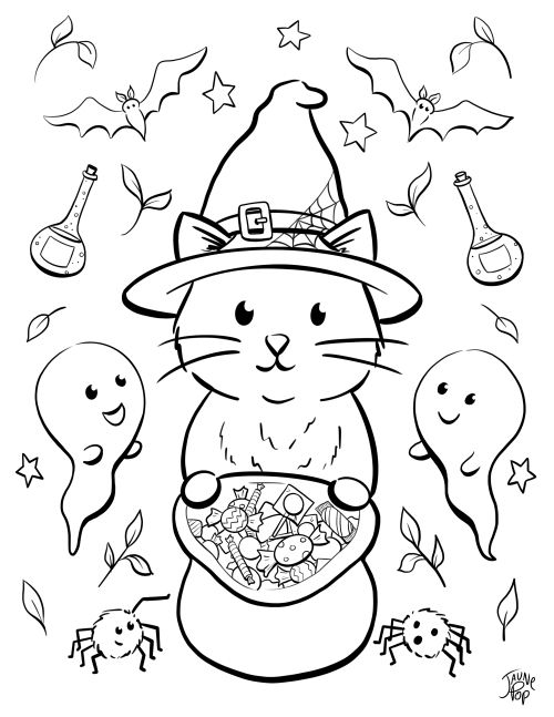 Coloriages In 2020 Halloween Coloring Pages Free Halloween Coloring Pages Halloween Coloring