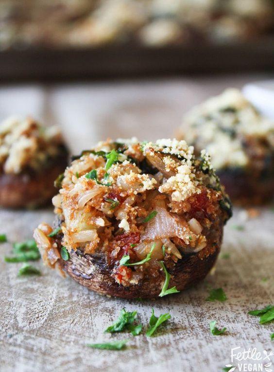 stuffed mushrooms roasted garlic onions mushrooms mushroom recipe ...