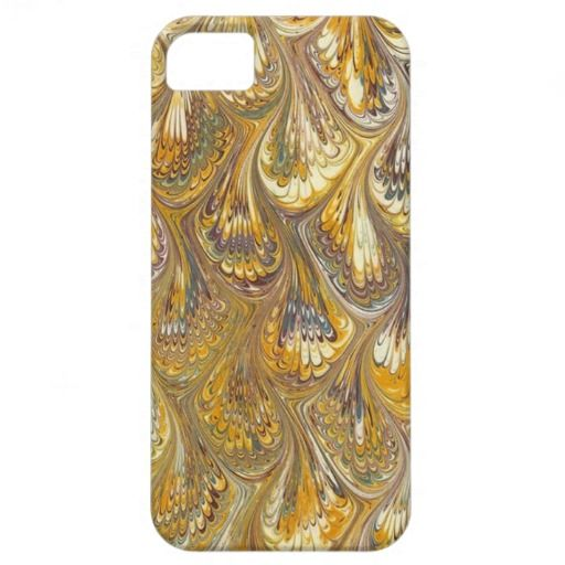 Gold Peacock Paisley Design I phone 5 Cover iPhone 5 Cases