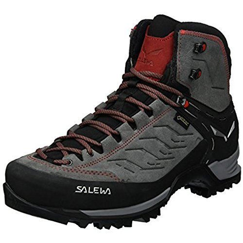 Salewa Men S Mountain Trainer Mid Gtx Boots Charcoal Papavero 10 5 Towel Boots Mountaineering Boots Hiking Boots