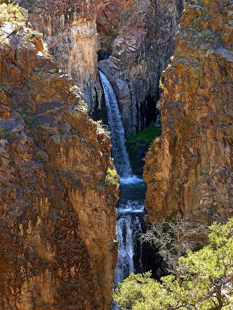 Nambe Falls near Santa Fe, NM - photo by Tony Klesert.