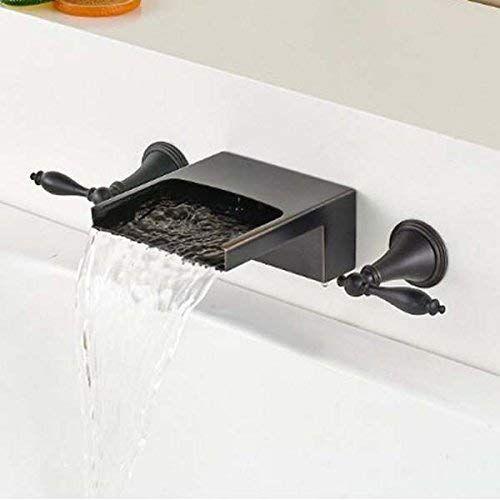 Senlesen Oil Rubbed Bronze 3 Holes Waterfall Bathtub Faucet Dual