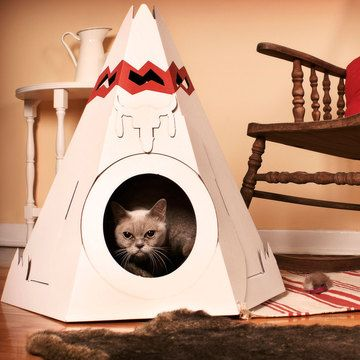 These cardboard structures are only $24!  They also have a log cabin.