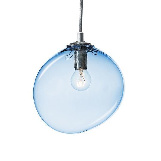 SKY lampe, blå i 2020 | Lampe, Lamper, Håndlavet