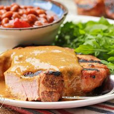 BBQ Pork Chops with Carolina BBQ Sauce