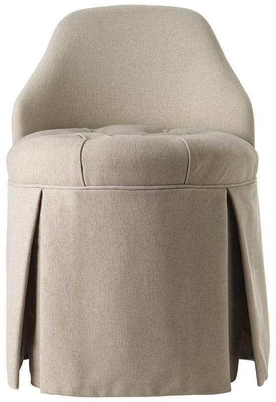 Bathroom Vanity Chair hillsdale furniture sophia vanity stool with linen gray fabric