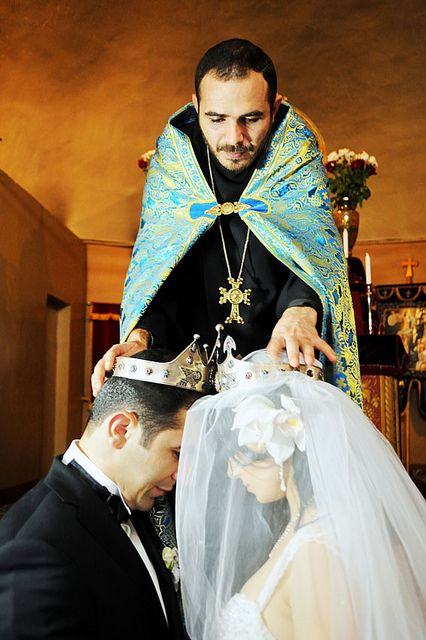Armenian Wedding Ceremony- the Crowning of the Bride & Groom: