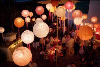 ribbons and lanterns