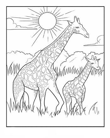Omeletozeu Giraffe Coloring Pages Giraffe Colors Animal Coloring Books