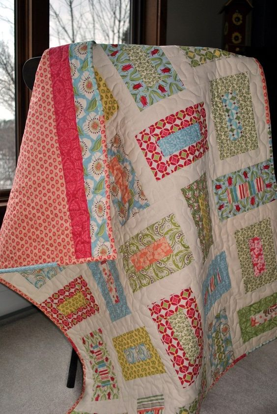 This Listing Is For Sarah One Verna Baby Quilt 99 00 One Amy Butler French Window Panes Quilt 140 12 Patterns Of Cozy Toddler Quilt Quilts Baby Quilts