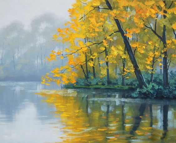 famous acrylic landscape paintings google search art