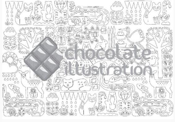 """Versión para colorear de la ilustración """"Ya llega la primavera II"""" (versión difícil) de Ana Línea. ¿Pruebas a imprimir sobre lienzo y colorearla con pincel? Nos imaginamos un cuadro precioso. Puedes descargarla en https://chocolateillustration.com/ilustraciones/ya-llega-la-primavera/ #chocolateillustration #dibujosparapintar #colorear #yocoloreo #analinea #yallegalaprimavera"""