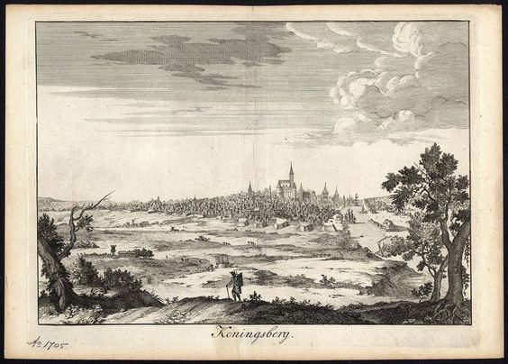 Antique Print-KONIGSBERG-KALININGRAD-GERMANY-RUSSIA-VIEW-Halma-1705