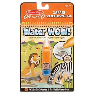 Melissa Doug Water Wow Safari On The Go Water Reveal Pad Book Activities Safari Travel Activities