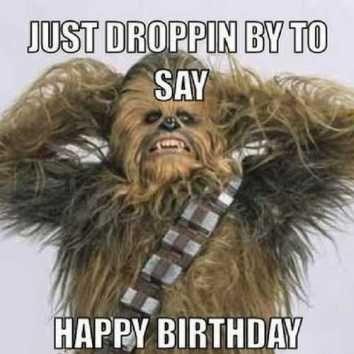 Chewbacca Star Wars Happy Birthday Meme Star Wars Happy Birthday Happy Birthday Man Happy Star Wars Day