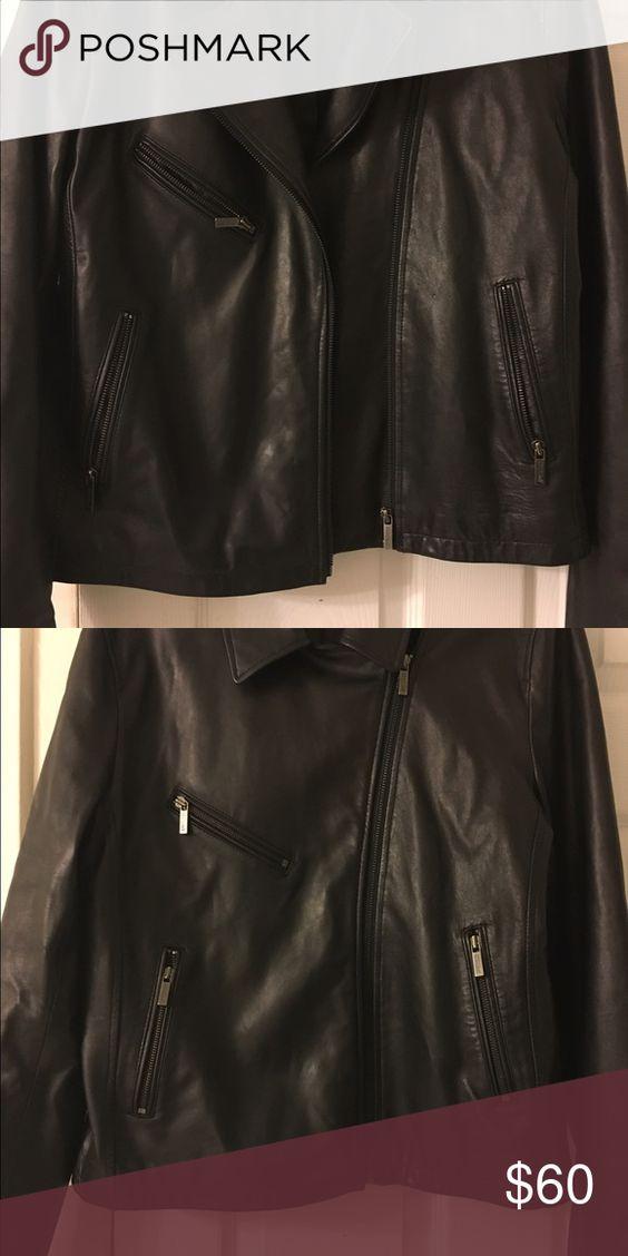 Black leather jacket American Living Women's XL leather jacket. Like new!! American Living Jackets & Coats