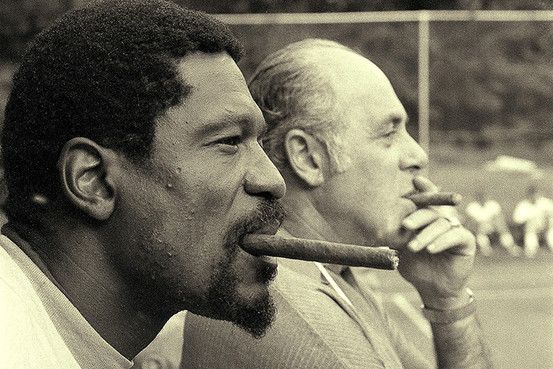 """""""The idea is not to block every shot. The idea is to make your opponent believe that you might block every shot."""" -Bill Russell..... """"The best way to forget ones self is to look at the world with attention and love."""" -Red Auerbach"""