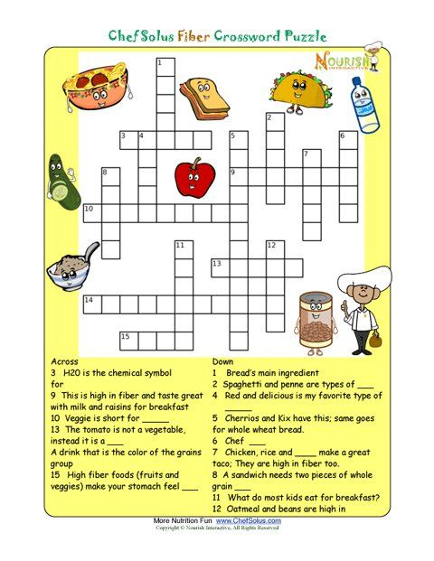 nutrition literacy and more image search crossword kid kid printables ...