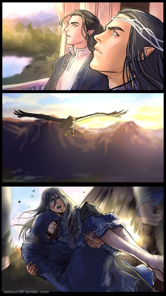 1.Turgon,Fingolfin2.Thorondor3.Maedhros,Fingon