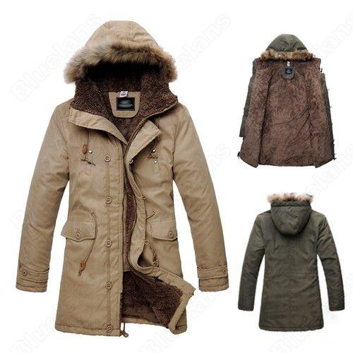 Hooded Winter Outwear Long Jacket Coat Warm Fur