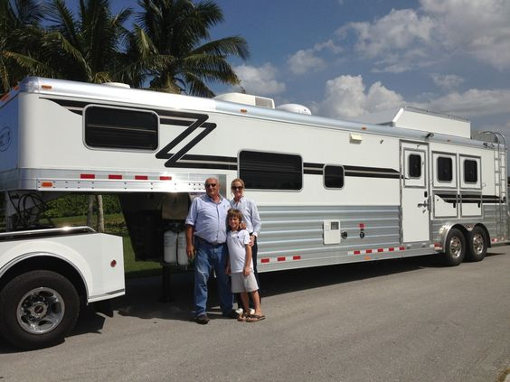 Dr. James Belden from Wellington, FL with his new 3 Horse w/ 13' Outlaw Conversion.  Purchased from Gulf Coast 4-Star Trailer Sales in Willis, TX.  (877) 543-0733  www.gc4star.com