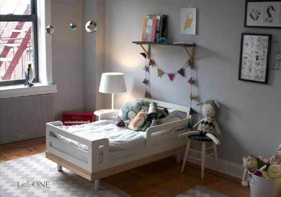 Oeuf Classic Toddler Kid Bed. Kids Rooms OeufNYC room decor room inspiration modern design.