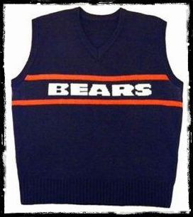 Mike Ditka Chicago Bears Sweater Vest Sweater Grey
