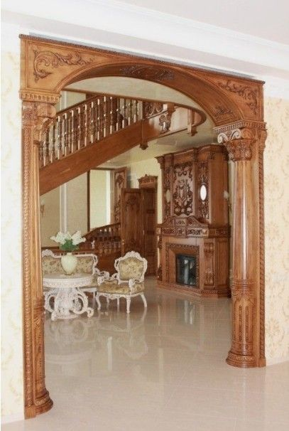 Hall Arch Designs In 2020 House Arch Design Living Room Decor Rustic Front Door Design Wood