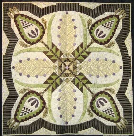"""Pineapple Paisley"" by Martha Mook, 2009 Hoffman Challenge"